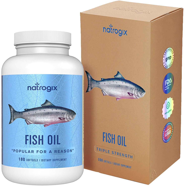 Natrogix Omega 3 Fish Oil 180 Softgels $11.99 AC @Amazon