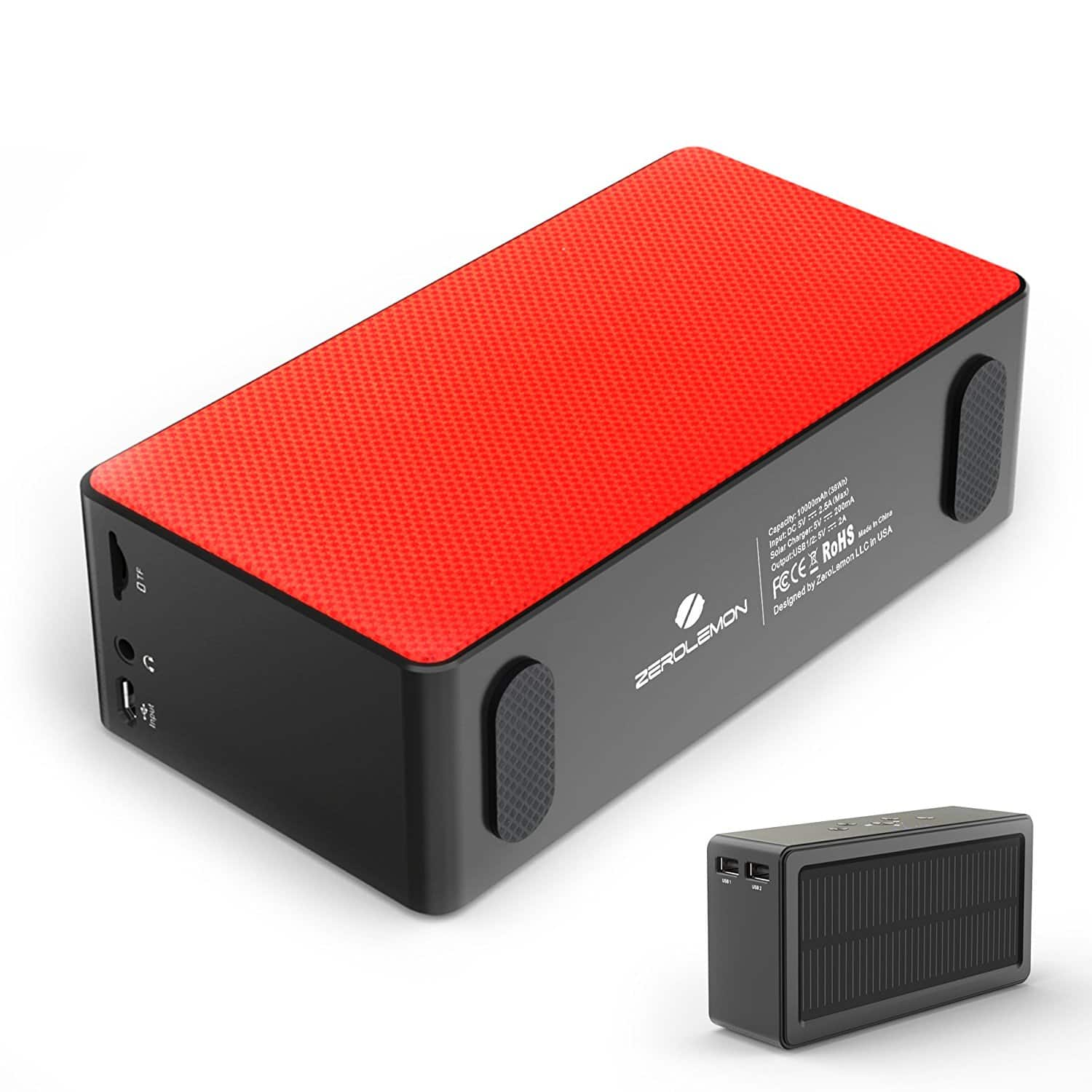 SolarSound 10W Bluetooth Speaker & 10000mah Power Bank $29.99 + f/s With Prime
