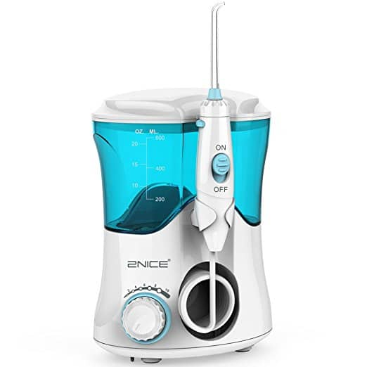 2NICE Water Flosser 10 Pressure Settings 600ml High Capacity with 7 Multifunctional Tips at $27.99 @Amazon.com