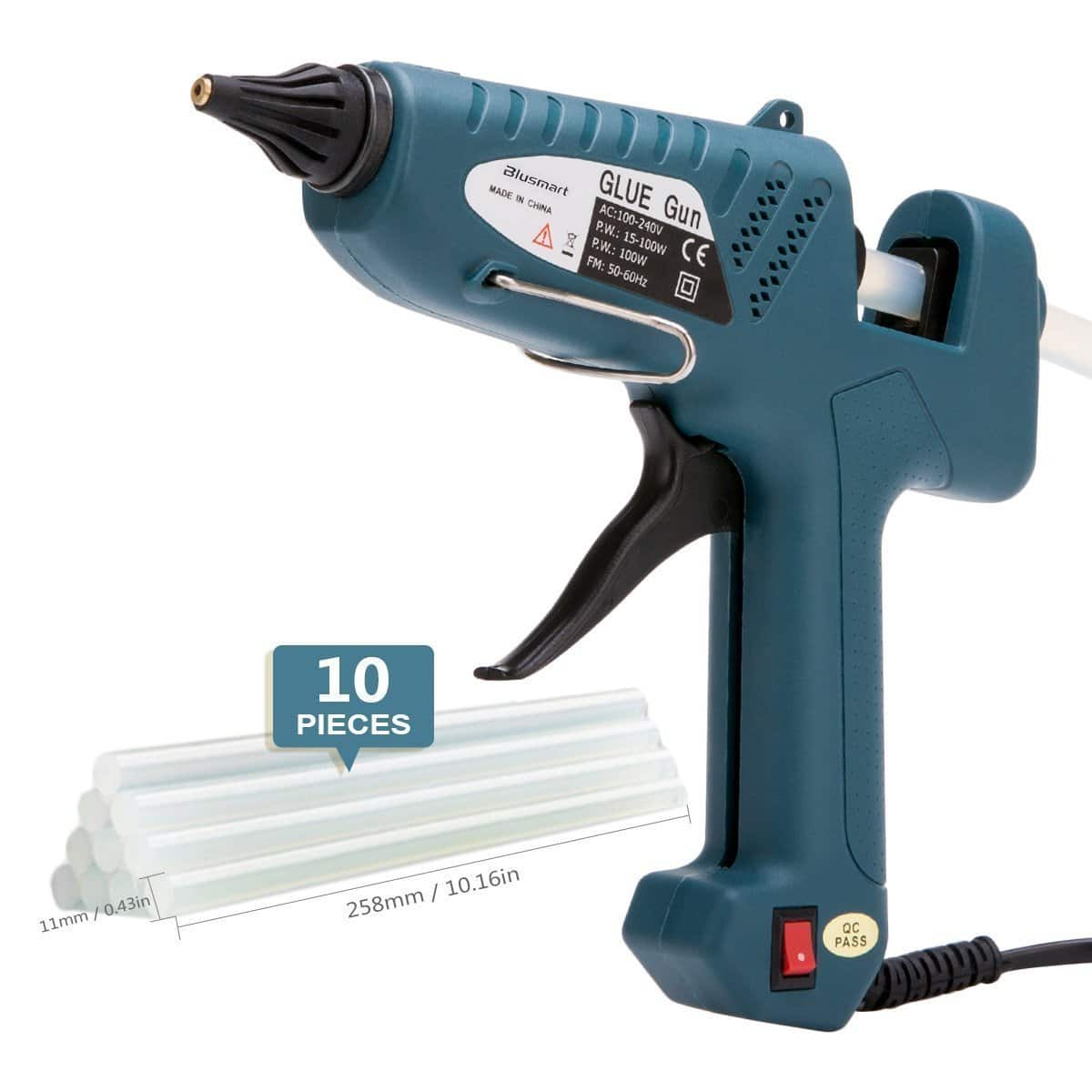 100-Watt Industrial Hot Melt Glue with 10pcs Glue Sticks for $11.69 or less @Amazon + Free Shipping