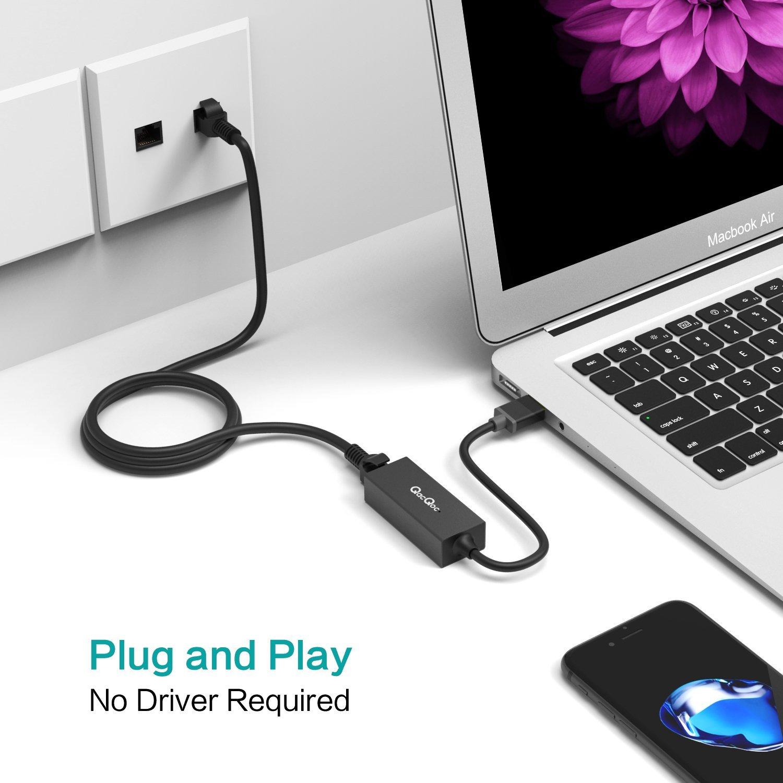 USB to Ethernet USB Network Adapter USB to RJ45 Gigabit Ethernet Adapter $7.69 AC @Amazon
