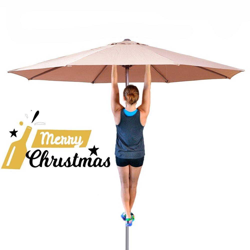 Shilucheng 9 Feet Aluminum Outdoor/Patio Offset Market Crank Umbrella Auto Tilt $44.90 AC @Amazon Free Shipping