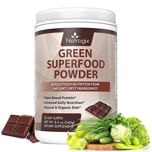Natrogix Green Superfood Chocolate Powder Drink for $10.49 AC @Amazon
