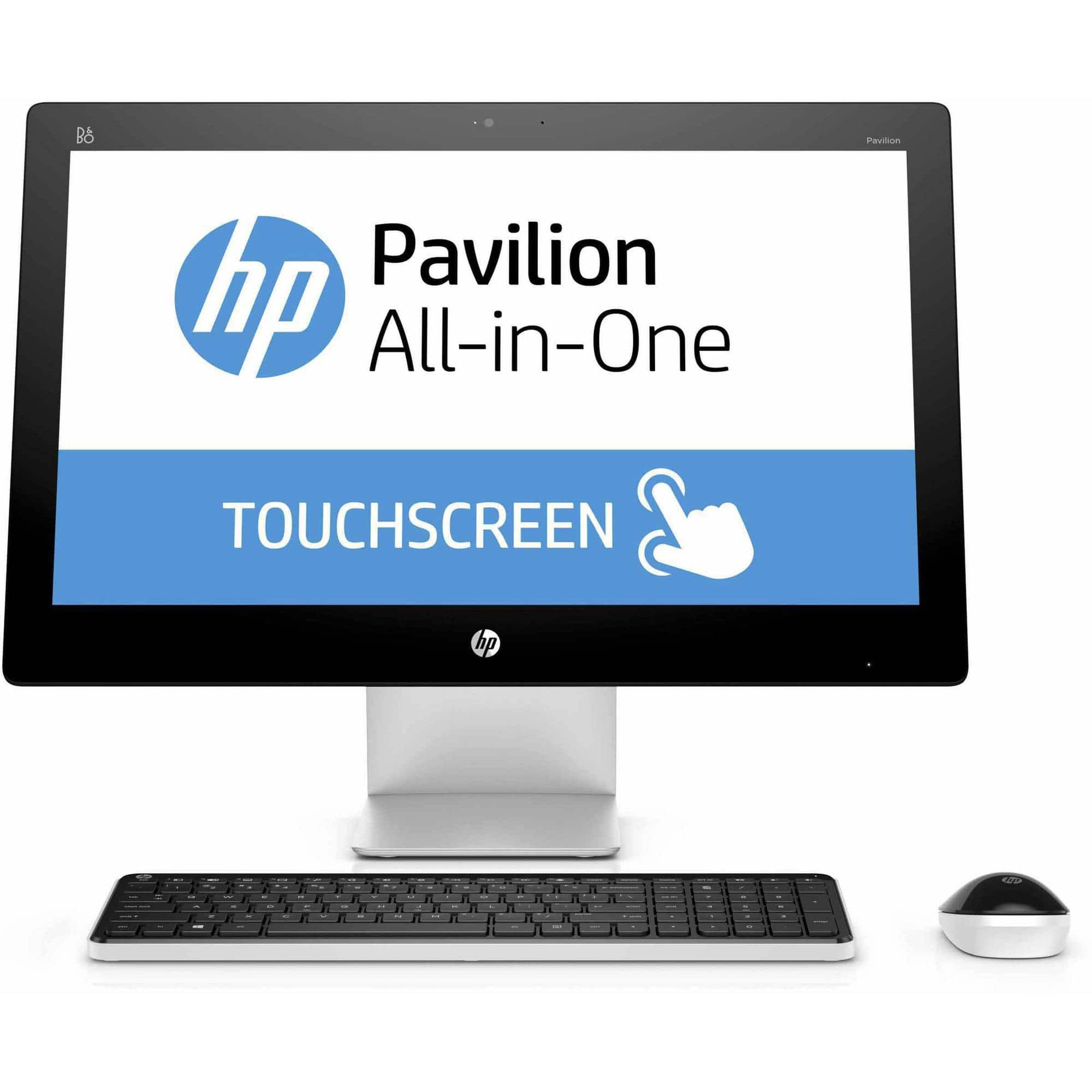 "YMMV B&M Walmart - HP Pavilion 23-q113w All-in-One Desktop PC with Intel Core i3-4170T Processor, 6GB Memory, 23"" touch screen, 1TB Hard Drive and Windows 10 Home"