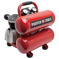 Lowes Deal: PORTER-CABLE 1.1-HP 4-Gallon 135-PSI 120-Volt Twin Stack Electric Air Compressor PCFP02040 $89.55 (Regular $199.00) + free pickup at Lowes B&M (YMMV)