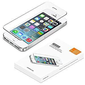 2 Pack Tempered glass screen protector for iPhone SE, iPhone 5S, $2.4 shipped (Amazon Prime not required)