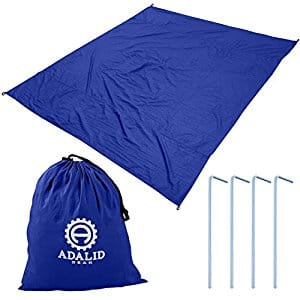 Beach Blanket with Accessories: Nylon Tote Pouch & 4 Stakes / Pegs | $13.99 | 30% off