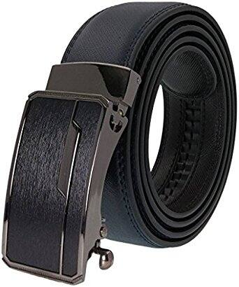 West Leathers Men's Leather Ratchet Dress Belt with Automatic Buckle | 45% off | $13.75