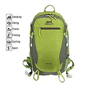 AMEISEYE 30L Waterproof Nylon Fabric BackPack Hiking Daypack(Various Size) for $18.99 @Amazon