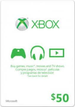 Xbox Live 50 USD Gift Card Game Key | $39.99