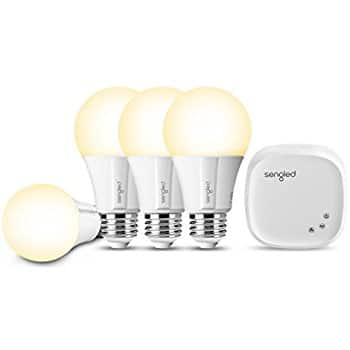 Sengled Smart LED Bulb Starter Kit (4 Bulbs + Hub) 60W Soft White 2700Kfor $69.99 -30% at $48.99 | Amazon