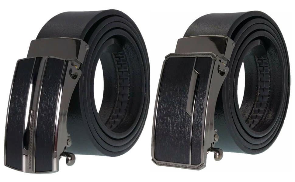 Men's Premium Leather Belt No Holes Slide Ratchet Dress Belts | @Amazon | $10.79
