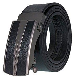 West Leathers Men's Leather Ratchet Dress Belt with Automatic Buckle $11.99 | @Amazon