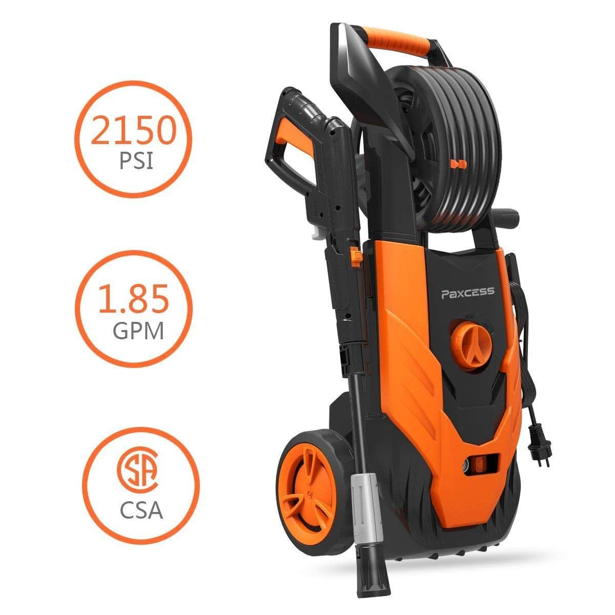 PAXCESS Electric Pressure Washer, 2150 PSI Power Washer with Spray Gun | $95.97 @Amazon