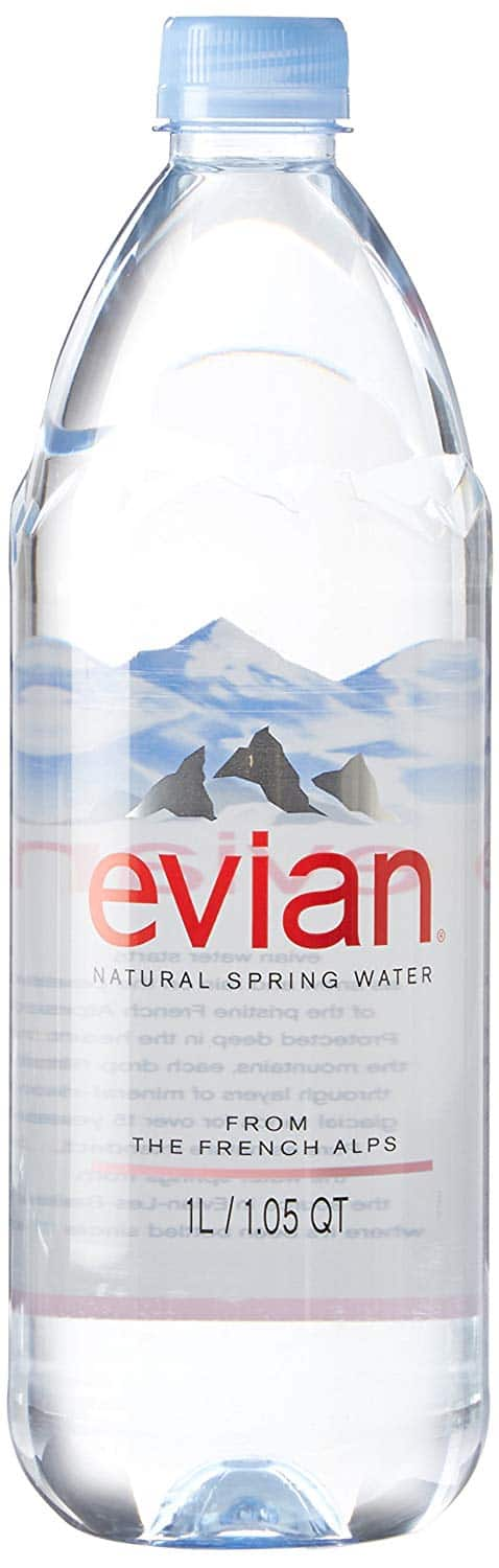 Evian Natural Spring Water Naturally Filtered Spring Water in Large Bottles@Amazon $11.44