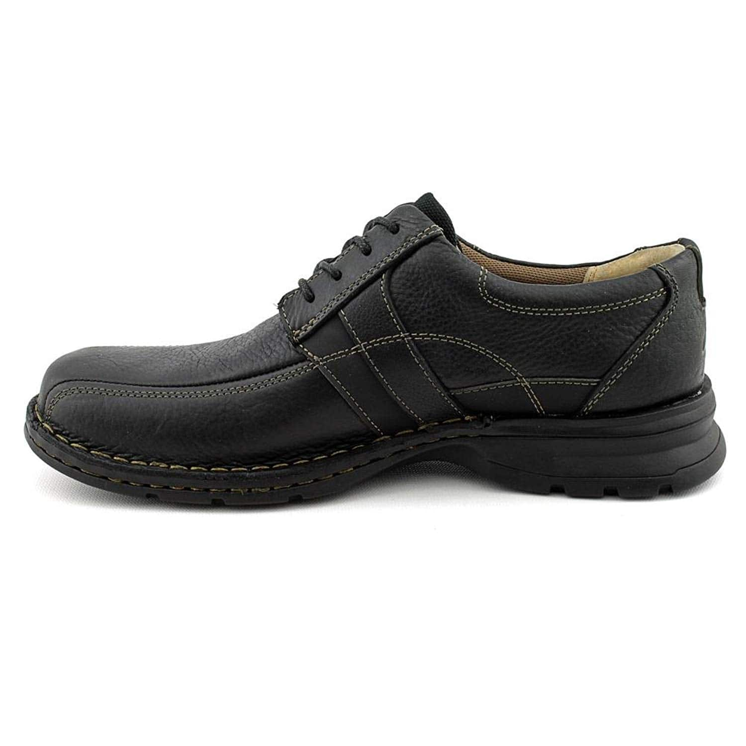ba9b9888b262c Clarks Men's Espace Oxfords [Black Oily Leather, 11.5 D(M) US] @Amazon  $47.19