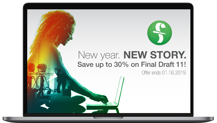 Final Draft has slashed it's prices for the new year sale. $169.99