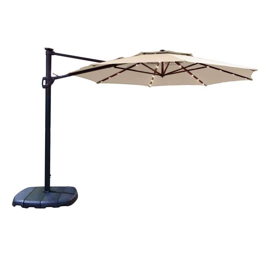 Simply Shade Tan Offset Pre-lit 11-ft Auto-tilt Octagon Patio Umbrella with Black Aluminum Frame and Base (Red and Tan) $198 in store pick up (YMMV)