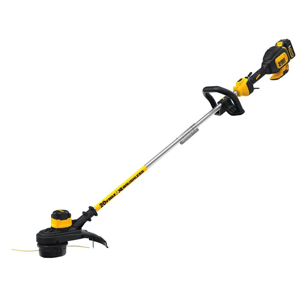 Dewalt 20-Volt MAX Lithium-Ion Cordless 13 in. Brushless Dual Line String Grass Trimmer w/ (1) 5.0Ah Battery and Charger (YMMV) $99