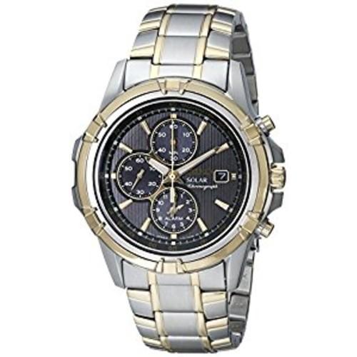 Seiko SSC142 Men's Two-Tone Chronograph Solar Dress Watch - $125.99