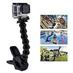 Jaws Flex Clamp Arm Mount and Adjustable Goose Neck for GoPro Camera Hero 4/3+/3/2/1 Black - AMAZON $13.03