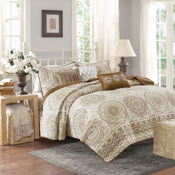 6-Piece Madison Park Tangiers Coverlet Set (queen) $26 shipped