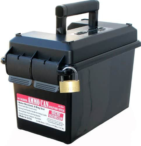 MTM Black 50 Caliber Ammo Storage Can $7.99 Amazon Prime Members Only