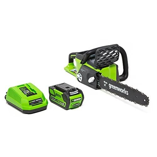 Greenworks 16-Inch 40V Cordless Chainsaw, 4.0 AH Battery Included 20312 [4.0Ah Battery] $136.26
