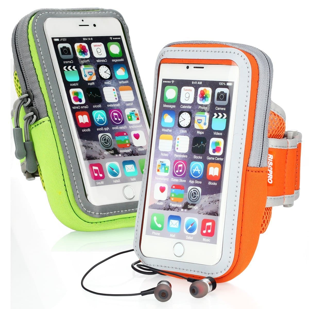 $3.90AC 2-PACK RISEPRO Card Holder, Jogging, Armbands Sports Multifunctional Pockets Outdoor for iphone 7, 7 plus, 6, 6S, 6plus, 5, 5s, 5c,Galaxy $3.86