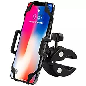 """$5.87AC  EXSHOW Bike Motorcycle Phone Holder with Safety and Full Rotation for iPhone ,Samsung, LG, HTC up to 6"""" @ amazon FS"""