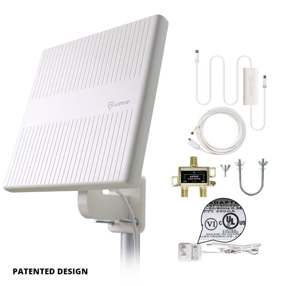 $34.99 TV Antenna for multiple TVs - 65 Miles Digital Amplified Outdoor RV/TV Antenna 360 Degree Omni Directional for UHF/VHF