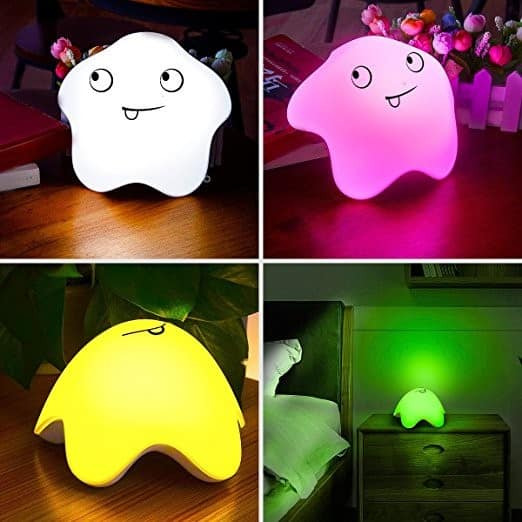 WIOR USB Rechargeable LED Kids Night Light Soft Silicone Nursery Lamp w/ Touch Sensor 7 Colors Single/ Changing Mod $8.93