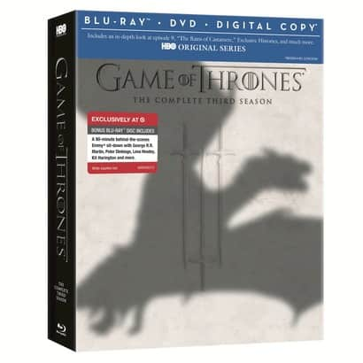 Game of Thrones Season 3 Blu-Ray Combo $29.99 @ Target & Best Buy *Starts 2/18*