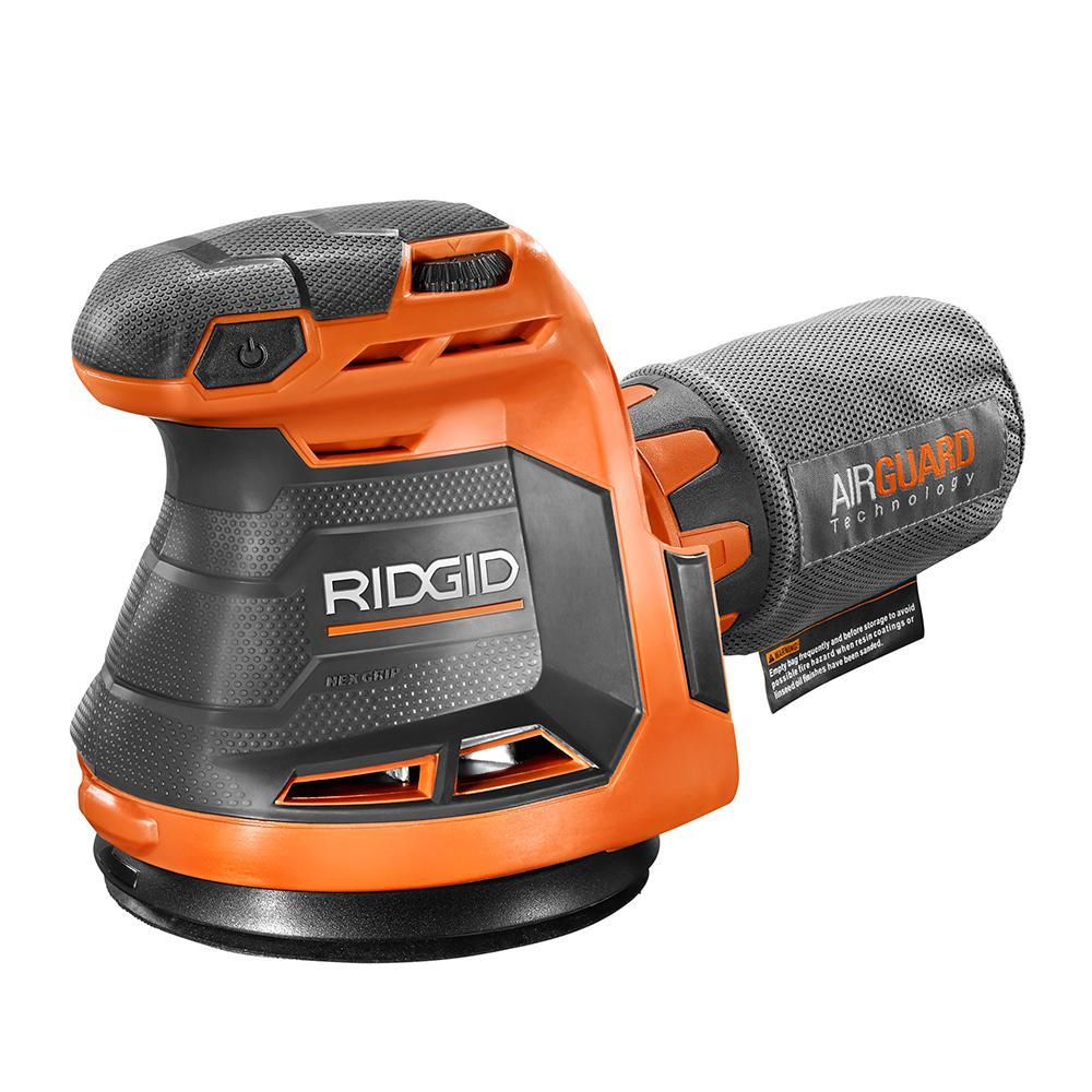 Home Depot: RIDGID 18-Volt Cordless 5 in. Random Orbit Sander (Tool Only) $49