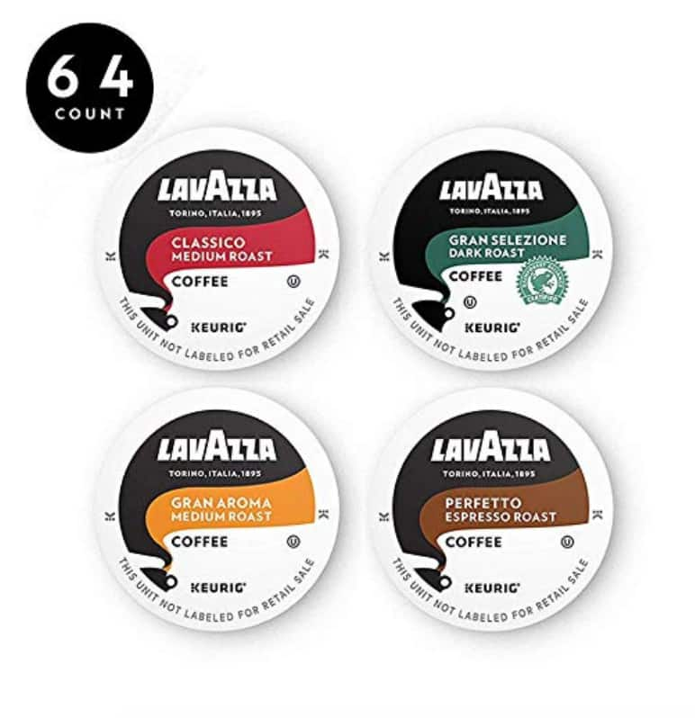 Lavazza Coffee K-Cup Variety Pack, 64 Count $19.18 with Amazon SS