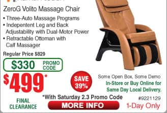 Human Touch ZeroG Volito Massage Chair $499 at Fry's B&M w/Promo