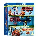 Blu-ray 3D [Region Free] - Cloudy With a Chance of Meatballs/ Monster House / Open Season Triple Pack - $25