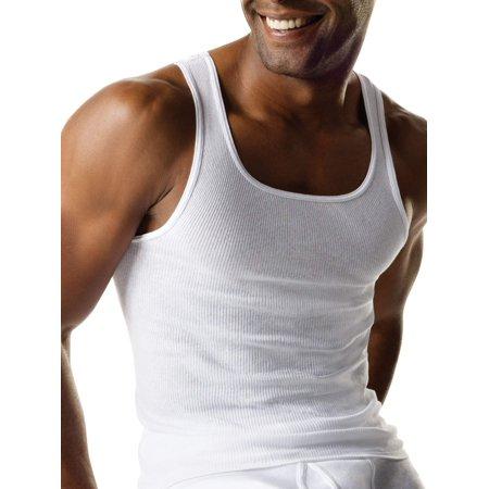 Hanes Men's White Tagless Extreme Value Bonus 12 Pack Comfortsoft Tank Undershirt $15.50 free store pickup