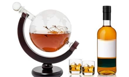 World Globe Whisky Decanter $24 Groupon