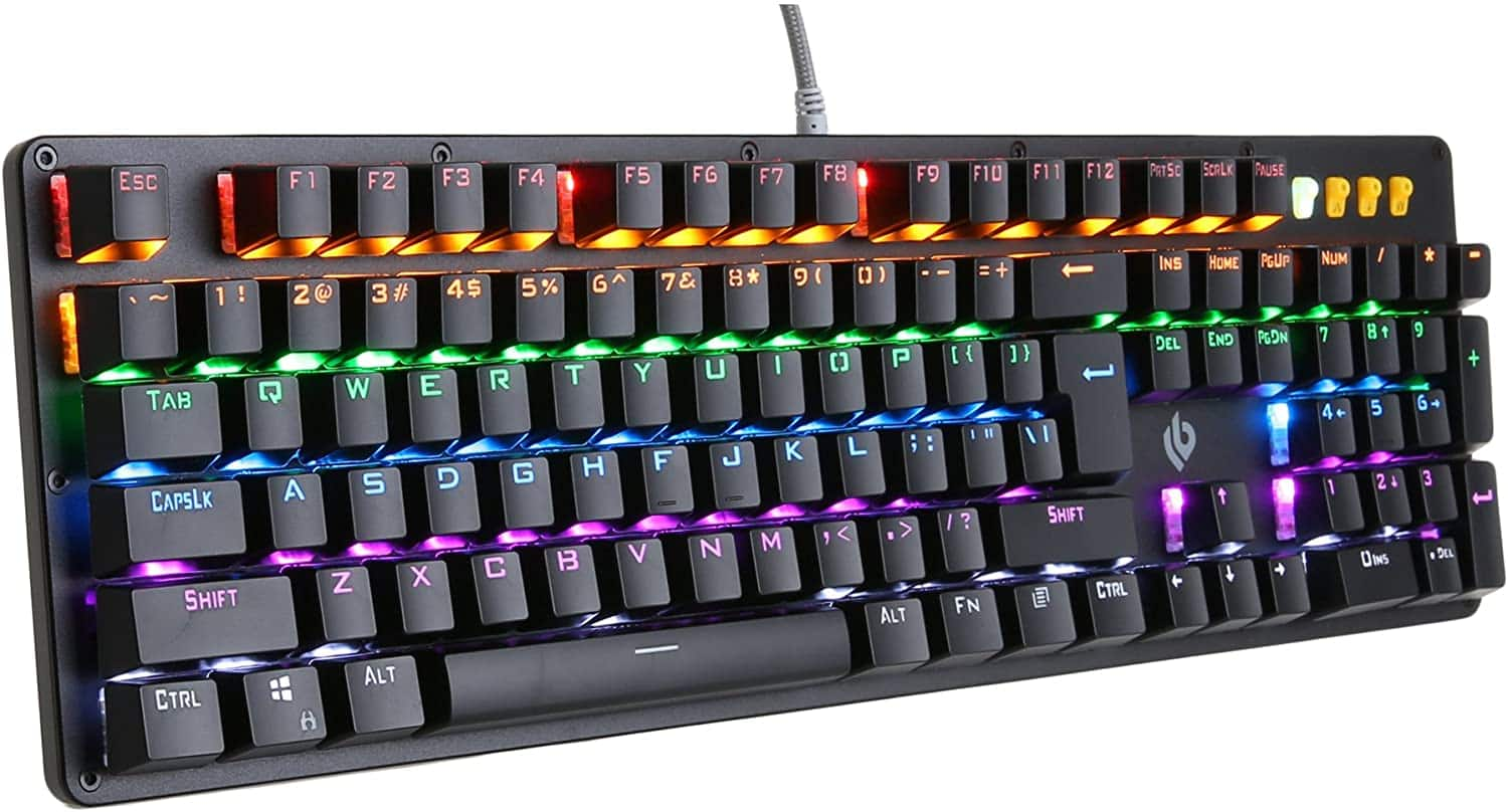 K20 Rainbow Backlight Full Key Anti-Ghosting Gaming Keyboard $12.97