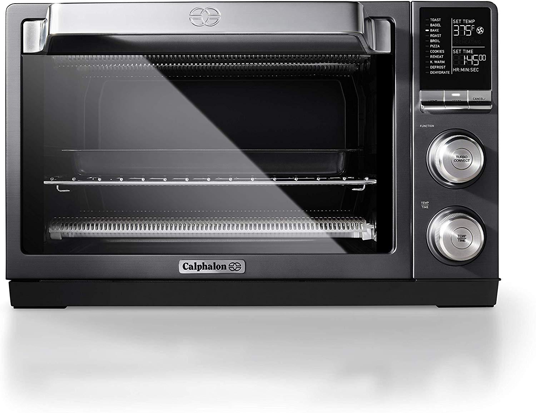 Calphalon Quartz Heat Countertop Toaster Oven, Stainless Steel, Extra-Large Capacity, Black, Dark Gray $124.99