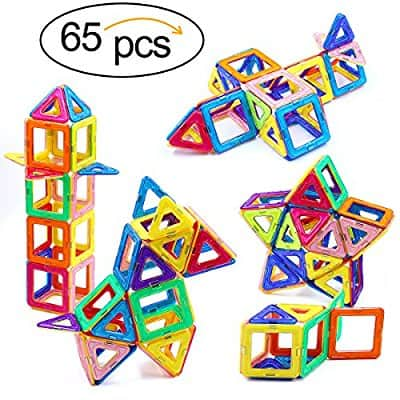 Magnetic Building Blocks Toys 65 Piece Similar Building Toys Playing Magnetic Toy Bricks @Amazon $19.12