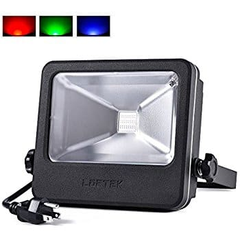 RGB 50 Watts LED Flood Light, 16 Colors Changing and 6 Levels Adjustable Brightness Outdoor Light $35.99