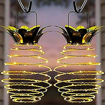 Waterproof 2-Pack Pineapple Solar Lights for Garden Patio Path Warm White $13.29