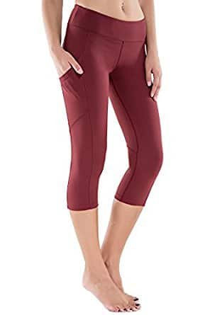 Women's Workout Yoga Capris Running Pants with Side Pocket @Amazon $13