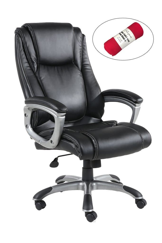 High Back PU Leather Office Executive Chair with Thick-Padded Seat @Amazon $127 $126.75