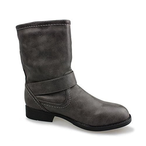 Women's Buckle Mid Calf Boots $20