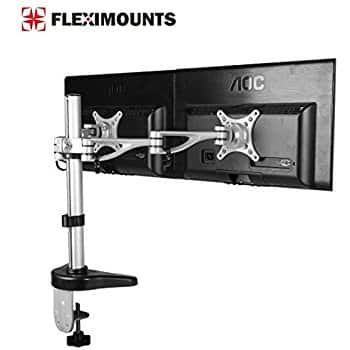 """Dual Monitor Mounts for 10""""-27"""" Computer LCD Screens $43"""
