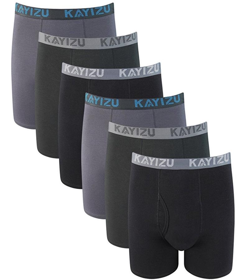 Men's Underwear Premium Soft Cotton Boxer Brief (6-Pack) $19.99 AC