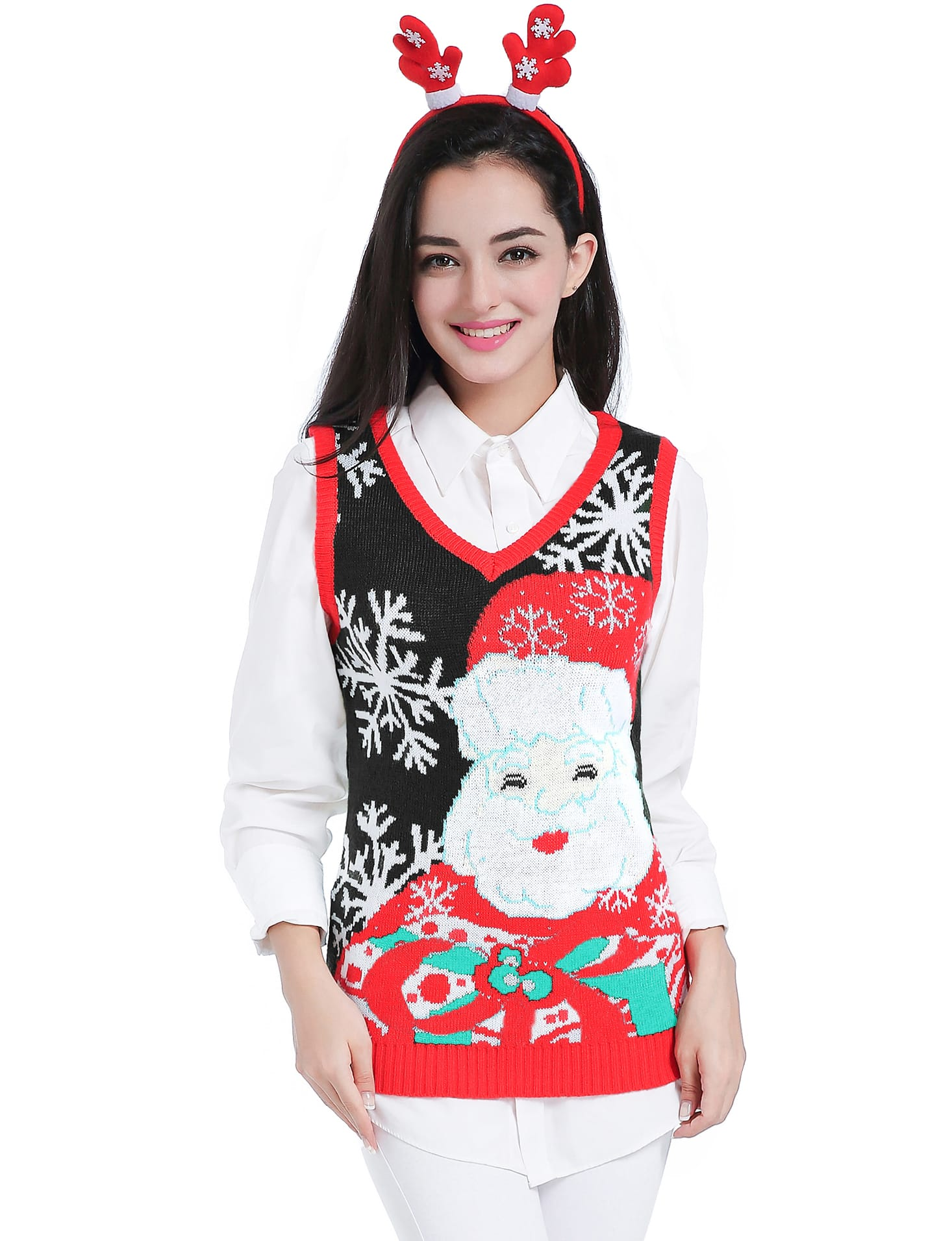 Woman's Ugly Christmas Sweater Vest $9.80